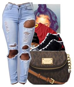 """""""."""" by trillestmelanin ❤ liked on Polyvore featuring Michael Kors"""