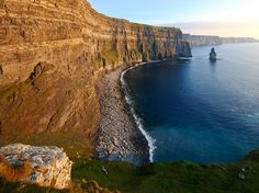 Stretching for five miles along the Atlantic coast, the Cliffs of Moher are one of the country's most extraordinary vistas. Bring your walking shoes