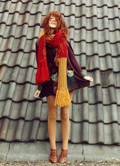 Gryffindor scarf! (by Nadia Esra) http://lookbook.nu/look/4350281-gryffindor-scarf