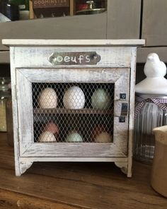 Unique Gift Ideas and Personalised Gifts Woodworking Furniture, Wood Furniture, Woodworking Projects, Build A Farmhouse Table, Egg Storage, Diy Cupboards, Chicken Crafts, Egg Holder, Wooden Pallets