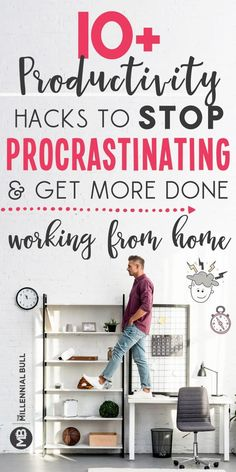 How To Be Productive Working From Home productivity hacks to stop procrastinating and get more done working from home. Learn how to manage your time and be more productive as a freelancer, entrepreneur or stay at home mom with these simple hacks! Work From Home Tips, Stay At Home Mom, Productivity Hacks, Increase Productivity, How To Stop Procrastinating, Routine, Time Management Tips, Home Jobs, Jobs Uk
