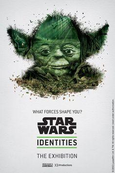 """Estos afiches fueron creados por la agencia de publicidad canadiense Bleublancrouge como parte de una exposición que explora el tema de la identidad humana, a través de los personajes de la legendaria saga de ciencia ficción """"Star Wars""""."""