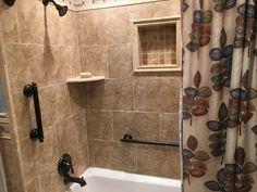 Customer Room Gallery - The Tile Shop Dark Wood Bathroom, The Tile Shop, Door Handles, Bathtub, Bathroom Updates, Gallery, Home Decor, Door Knobs, Standing Bath