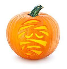 Mummy, carved pumpkin stencil