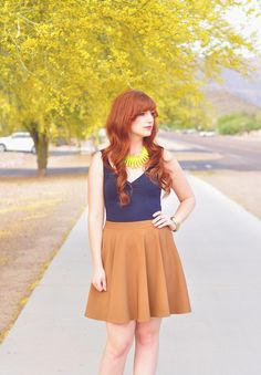 THE RUFFLE HOUSE: Red-head Street Style // NEON