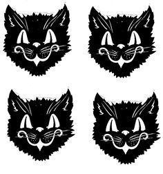 Vintage Black Cat Printables