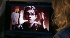 "Spock is not impressed with the Doctor's explanation of time as being a ""big ball of wibbly wobbly, timey wimey stuff."""