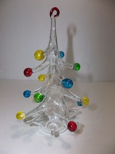 "Vintage Parise Vetro Italian Art Glass CHRISTMAS TREE 5.25"""
