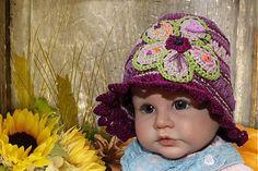 FORSARAH / Fialový klobúčik