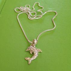 Bridal Dolphin Crystal Necklace by joytoyou41 on Etsy, $25.00