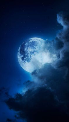 Moon in Cloud iPhone Wallpaper - iPhone Wallpapers
