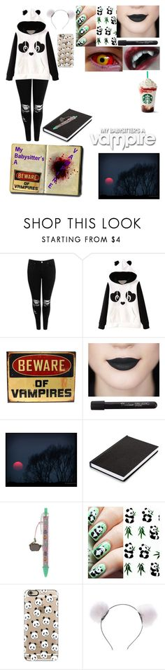 """""""My babysitter's a Vampire OC"""" by animeloverx3 ❤ liked on Polyvore featuring Boohoo, Pusheen and Casetify"""