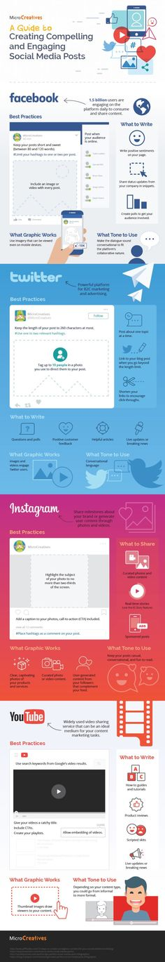 A Guide To Creating Compelling And Engaging Social Media Posts - #infographic