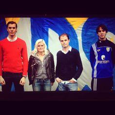 Utbildning med tränarna i Vasastan BK Dam, 26/8 2012. På bilden från vänster: Simon, jag, Micke och Viktor.
