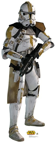 Storm Trooper cardboard cutout- Because Han Solo needs someone to fight with:)