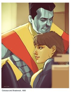 Phil Noto - Colossus and Kitty   Weekly Sketch Up - 01.18.2013
