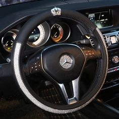 Bedazzled Steering Wheel Coverwith Bling Crown