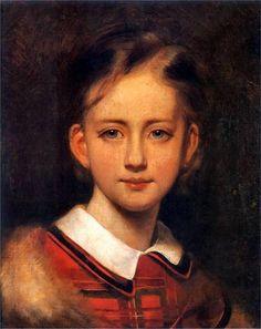 Portrait Of A Girl -Artur Grottger (1837 – 1867, Polish)