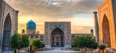Die Registran bei Sonnenuntergang in Samarkand (@ Didier Marti, iStockphoto.com / Chamäleon)