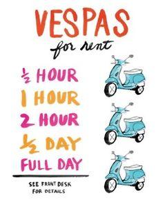 Vespa via Kate Spade #RideColorfully