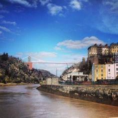Bristol's most famous land mark, the Clifton suspension bridge.