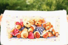 Family Bears Style CrossStitch Medium Size Home / by ArtandFunShop, $179.00