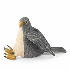 Dora Designs Birds of Prey - Sparrow Hawk Doorstop Farm Door, Door Stopper, Fabric Birds, Bird Design, Stuffed Animal Patterns, Wool Felt, Felted Wool, Discount Designer, Art Dolls