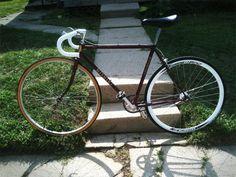 1st home-built fixie; 80's Nishiki road bike frame