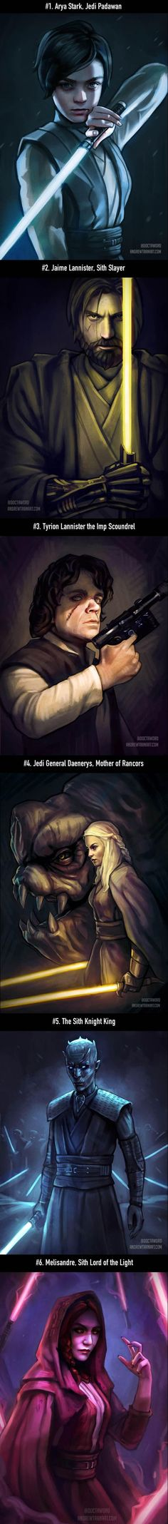 Game of Thrones Characters In Star Wars (By Andrew D Tran.):
