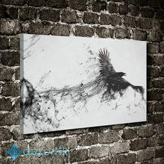 Abstract Karga Tablo #kanvas_tablo #siyah_beyaz_tablolar #siyah_beyaz_kanvas_tablolar