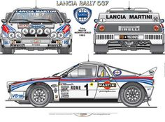 Lancia Rally 037 Ñ Lancia Delta, Sport Cars, Race Cars, Automobile, Martini Racing, Car Posters, Vintage Race Car, Car Drawings, Car Engine