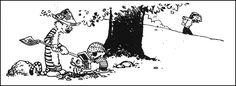 Calvin and Hobbes Calvin And Hobbes, Pirate Treasure, American Artists, Comic Strips, Make Me Smile, Ink, Funny, Hilarious, Comics
