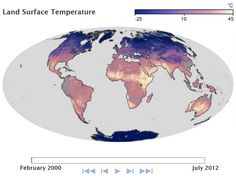 Land Surface Temperature in July 2012