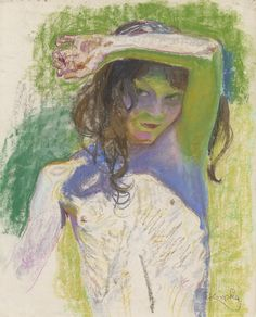 Girl Shading Her Eyes - Frantisek Kupka Czech painter,graphic artist 1871- 1957