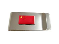 China Flag Pendant Money Clip
