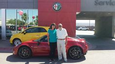 Another #AlfaRomeo hits the streets of #LasVegas! Congratulations Malcom!