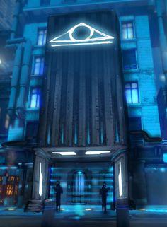 Art of Dreamfall Chapters: Reborn. EYE station.