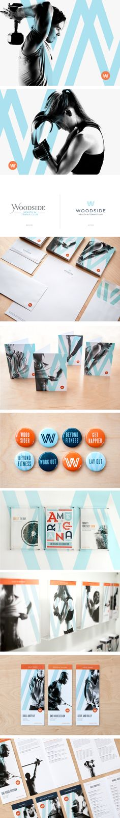 Woodside Health & Tennis Club | Art Direction, Branding, Copywriting, Design, Interior Integration, Signage, Wayfinding, Website | Design Ranch