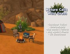 Nature Calls Wild Grass Toilet by LadyCadaver at Mod The Sims via Sims 4 Updates