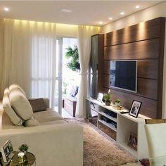 Hello people! Inspiração de hoje é desta linda sala de TV. Quem também gostou? Projeto: Apartamento 104.