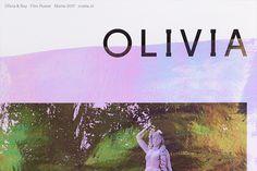 Detail—Promotional poster design for short film 'Olivia & Ray'.