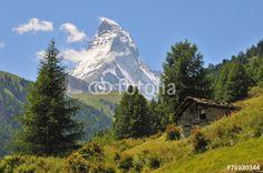 Póster Matterhorn Zermatt - Prächtiger Berg, malerische Berglandschaft