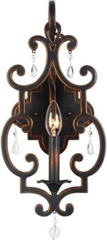 Copper finish Gothic wall sconce - Antique Reproduction Bath Lighting - Deep Discount Lighting