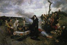 """La demencia de Doña Juana """"la Loca"""". Francisco Pradilla. 1877. Localización: Museo Nacional del Prado (Madrid). https://painthealth.wordpress.com/2016/03/02/la-demencia-de-dona-juana-la-loca/"""