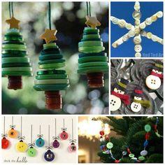 Christmas button art