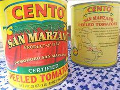 Cento San Marzano Peeled Tomatoes Homemade Spaghetti Sauce, Homemade Tomato Sauce, Tomato Sauce Recipe, Sauce Recipes, Spaghetti Recipes, Drink Recipes, Pasta Recipes, Healthy Recipes, San Marzano Sauce