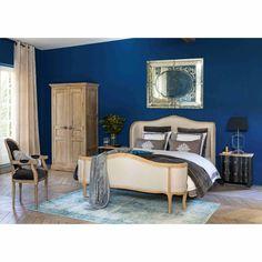 Bett aus Leinen, beige, 160 ... - Madeleine