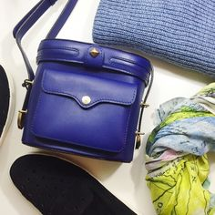 """Rebecca Minkoff Navy Camera Crossbody Bag Details: • Leather • 7"""" H X 7"""" L X 3.5"""" D • Adjustable shoulder strap, 22-26"""" drop • Gold hardware • Front flap pocket • Please note that this is the taller style camera bag, not the Craig • NWT and dust bag  05261601 Rebecca Minkoff Bags Crossbody Bags"""
