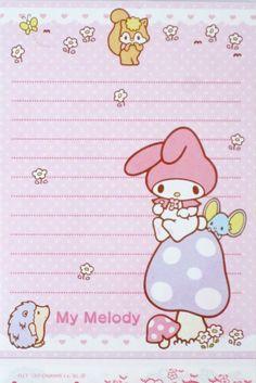 Sanrio Strawberry My Melody Hello Kitty 3 Tier Memo Pad