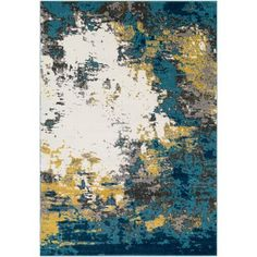 Lend a bold, artful touch to your master suite or dining room with this stunning area rug, featuring an abstract motif in contrasting gray and gold hues.